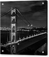 Golden Gate Evening- Mono Acrylic Print