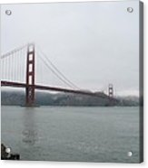Golden Gate In Fog Acrylic Print
