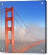 Golden Gate In Morning Fog Acrylic Print