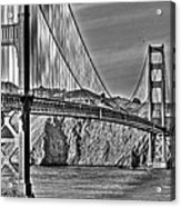 Golden Gate Over The Bay 2 Acrylic Print