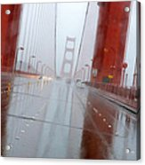 Golden Gate Rain Acrylic Print