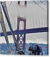 Golden Gate Sailing Acrylic Print