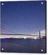 Golden Gate Silhouette Acrylic Print