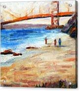 Golden Gate Stroll Acrylic Print