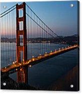 Golden Gate Sunrise Acrylic Print