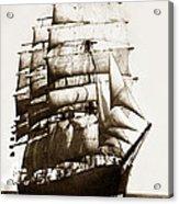 Golden Gate Tall Ship Circa 1905 Acrylic Print
