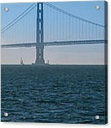 Golden Gate - The Fog Is Lifting Acrylic Print