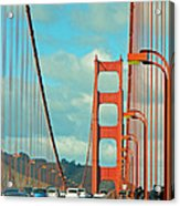 Golden Gate Walkway Acrylic Print