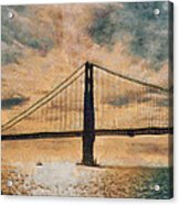 Golden Gatepost Acrylic Print