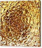 Golden Glass Bubbles Acrylic Print