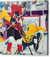 Golden Goal In Sochi Acrylic Print