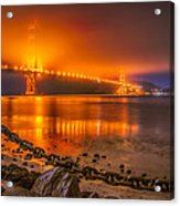 Golden Golden Gate Bridge  Acrylic Print