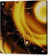 Golden Halo Acrylic Print by Anastasiya Malakhova