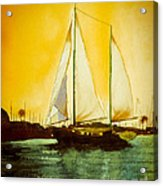 Golden Harbor  Acrylic Print