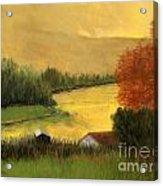 Golden Haze Acrylic Print