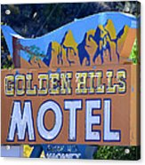 Golden Hills Motel Utah Acrylic Print