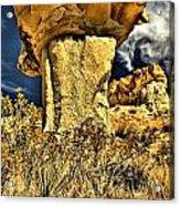 Golden Hoodoo Acrylic Print
