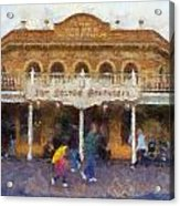 Golden Horseshoe Frontierland Disneyland Photo Art 02 Acrylic Print