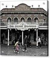 Golden Horseshoe Frontierland Disneyland Sc Acrylic Print