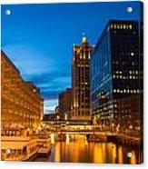 Golden Hour Milwaukee River Acrylic Print
