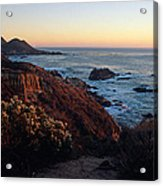 Golden Hour On Garrapata Acrylic Print