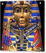 Golden Inner Sarcophagus Of A Pharaoh Acrylic Print by Daniel Hagerman