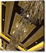 Golden Jewels And Gems - Sparkling Crystal Chandeliers  Acrylic Print