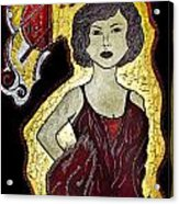 Golden Lady Acrylic Print