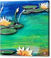 Golden Lillies Acrylic Print