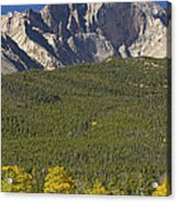 Golden Longs Peak View Acrylic Print