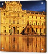 Golden Louvre - Paris Acrylic Print