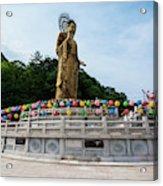 Golden Maitreya Statue, Beopjusa Temple Acrylic Print