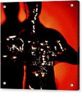 Golden Man In Shadow Acrylic Print