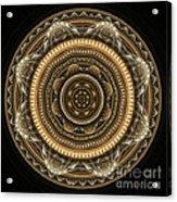 Golden Mandala Acrylic Print