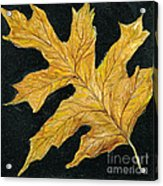 Golden Oak Leaf Acrylic Print