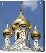 Golden Onion Domes - Church Yalta Acrylic Print
