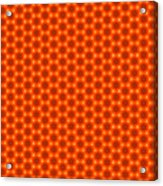 Golden Orange Honeycomb Hexagon Pattern Acrylic Print