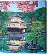 Golden Pavillion In Kyoto Acrylic Print