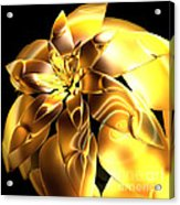 Golden Pineapple By Jammer Acrylic Print