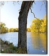Golden Pond Panorama Acrylic Print