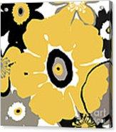 Golden Pop Flower Acrylic Print
