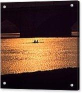 Golden Potomac Acrylic Print