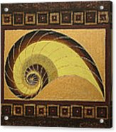 Golden Ratio Spiral Acrylic Print