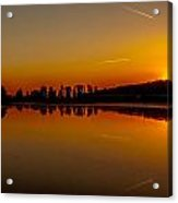 Golden Reflections On Sunset Acrylic Print