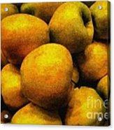 Golden Renaissance Apples Acrylic Print