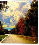 Golden Road Acrylic Print