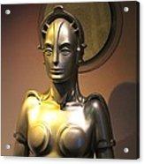 Golden Robot Lady Acrylic Print