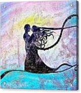 Golden Romance Acrylic Print