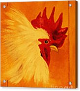 Golden Rooster Acrylic Print
