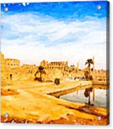 Golden Ruins Of Karnak Acrylic Print